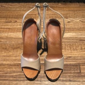 Stella McCartney wood wedge sandal
